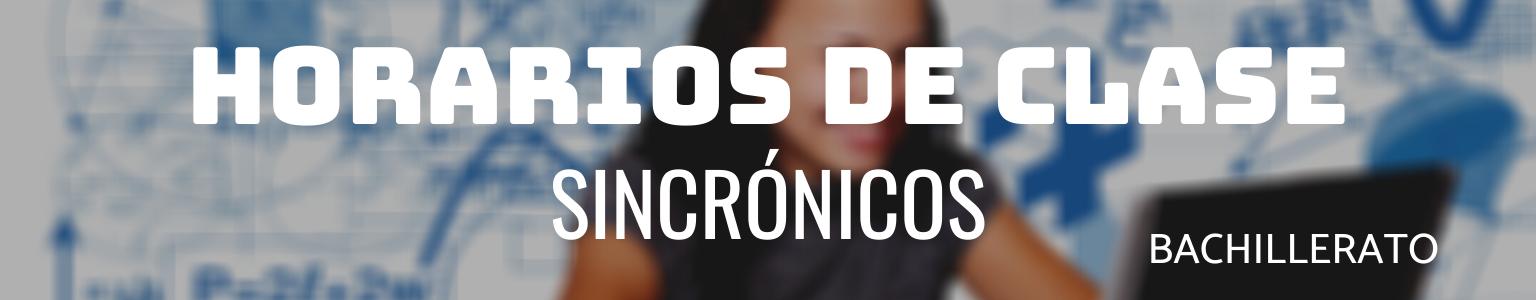 HORARIOS DE CLASE SINCRÓNICOS (2)